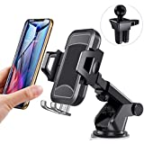 itaomi [Upgrade] Car-Phone-Mount, Dashboard Air Vent Windshield, Handsfree Cell Phone Car Holder Compatible iPhone XR Xs Max Xs X 8 7 6 Plus, Compatible Samsung-Galaxy-S10 S10+ S10e S9 S8 S7 etc.