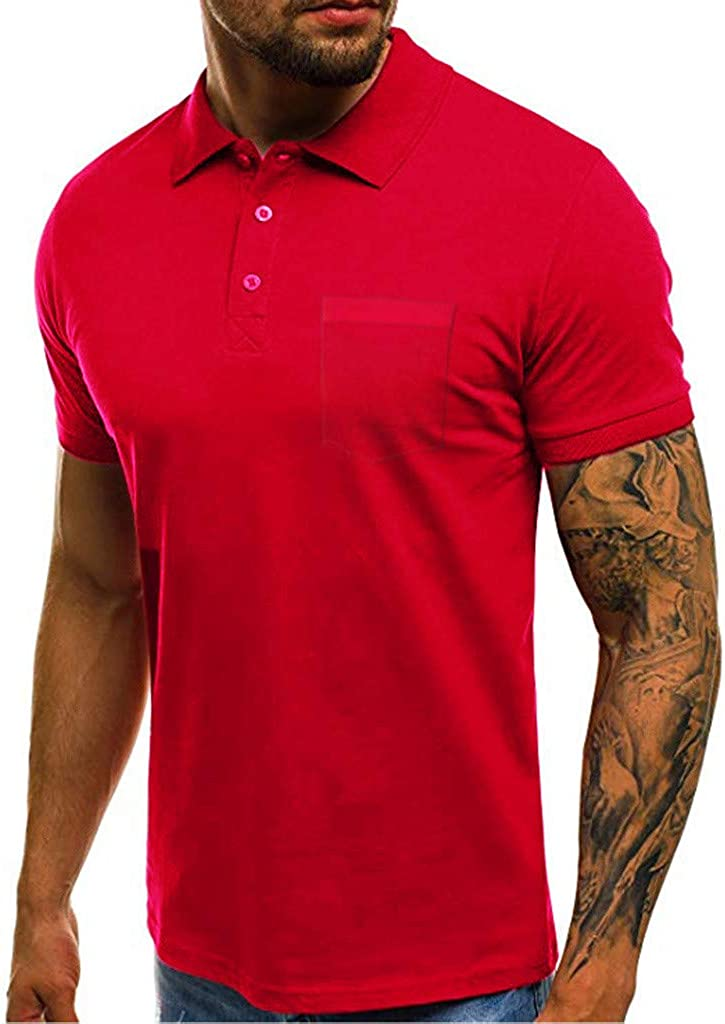 HKDGID Summer Short Sleeve O-Neck T-Shirts for Mens Boys Casual Comfy Tees Tops Blouse