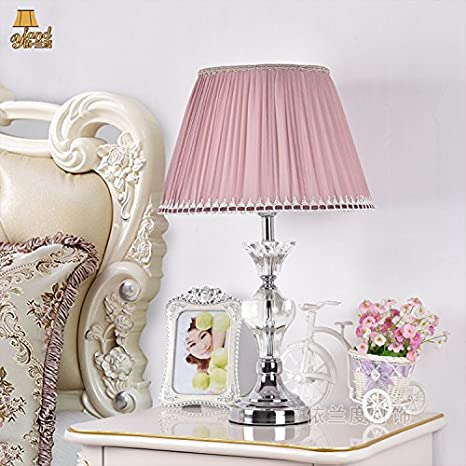 Kai Bedroom Bedside Lamp Pink Crystal Table Lamp Simple And Warm