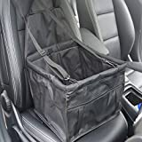 Geekercity Car Hammock for Dogs Cats Pets Car Seat Cover Protector Waterproof Protection Mat with Seatbelt Pet Carrier Bag Pet Car Booster Seat for Cars SUV Truck (Black)