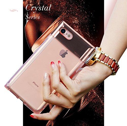 Funda iPhone 8/7 Plus Case,ROCK Serie de Botellas de Perfume La Caja del Teléfono,[Elegante][Niña][Romántico][PC+TPU][Transparente]para Apple iPhone 8/7 Plus(5.5inch) - Negro Negro