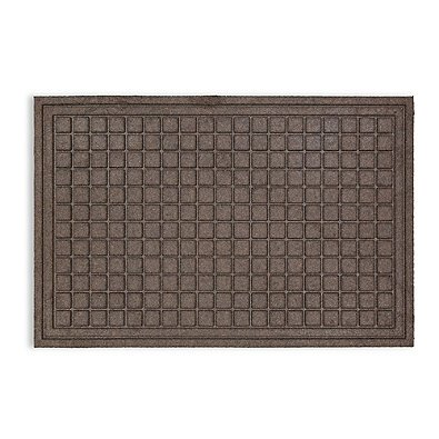 Mohawk Home 36-Inch x 48-Inch Square Impressions Door Mat in Brown | Raised Square Design is Great for Scraping off Shoes and Boots (Kilim Boots)