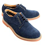 O-NINE Mens casual shoes mens fashion sneakers Derby Shoes High-Top Casual sneakers leather feel Lace-up Unisex Plain toe Mule Antique Low-Top Sneaker Boots Color Stitching Mountain boots navy 39 EU (US Men's 7.5 M)