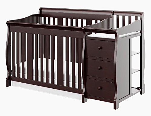 stork craft portofino 4 in 1 fixed side convertible crib and changer espresso buy online in. Black Bedroom Furniture Sets. Home Design Ideas