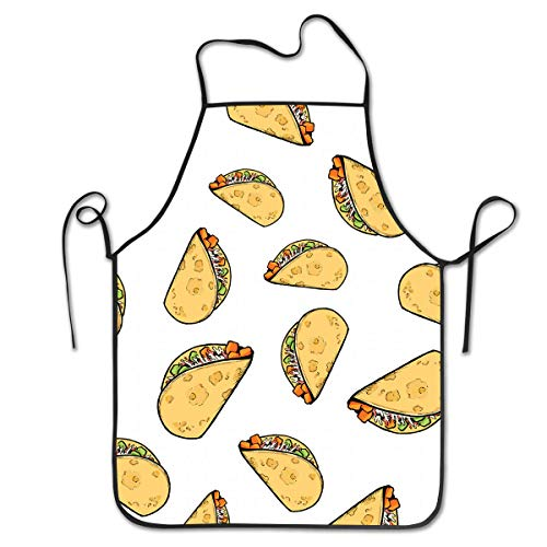 COLOMAKE Sweet Potato Tacos Bib Apron Waterproof Event