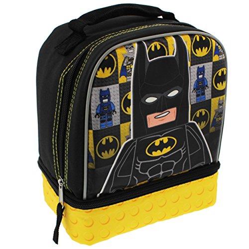 Lego Batman Dual Compartment Soft Lunch Box (Black/Yellow)