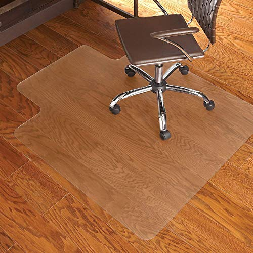 Office Chair Mat with Lip for Hardwood Floor Computer Desk Swivel PVC Plastic Mat Clear Oversized and Rolling Delivery, Protect Hard Flooring in Home and Office 48 x 36 inches