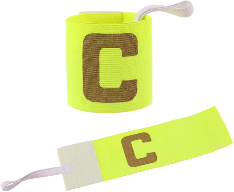bracelet pour capitaine de football Bracelet pour enfant du capitaine y compris le football et le football am/éricain velcro extensible primaire pour enfant de taille standard adapt/é /à tous les sports