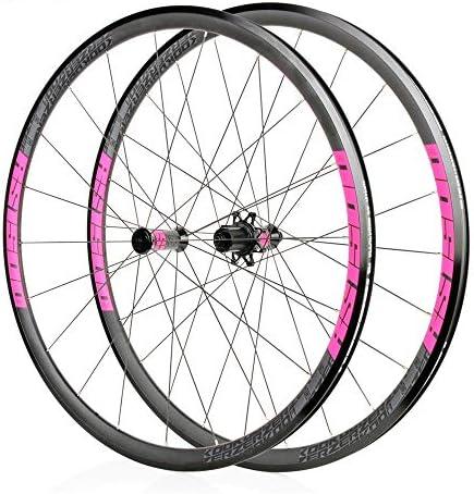ロード自転車ホイール、700C 30MM高自転車リムアルミニウム合金フロントホイールリアキャルパーブレーキファーストリリース32Hパリンベアリング