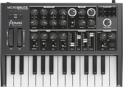 Arturia MicroBrute Analog Synthesizer Bundle with MIDI Cable and Austin Bazaar Polishing Cloth
