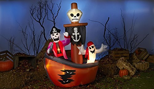 Totally Ghoul Airblown Halloween Decoration- Ghost Pirate Ship by HALLOWEEN INFLATABLES at The Neighborhood Corner Store