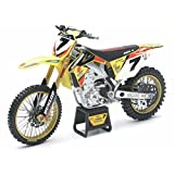 NewRay 1:12 Scale Dirtbike Yoshimura Suzuki RM-Z450 2014 Yellow/Red/Green 1:12