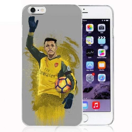 FidgetGear Soccer Alexis Sanchez Silicone Phone Case for iPhone X 6/6s/7/8 Plus 5s 5C 4 Alexis Sanchez for iPhone 5/5s/SE