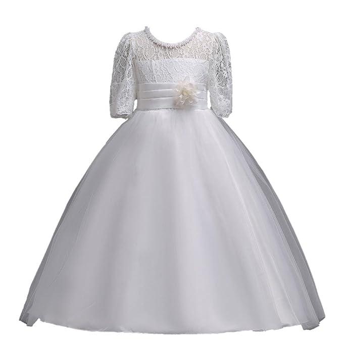 Vestido de niñas ,❤ Manadlian ❤ Vestido de princesa de niña de encaje