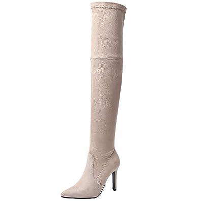 Artfaerie Womens High Heel Ankle Boots Block Platform Side Zipper Booties Fall Winter Short Shoes