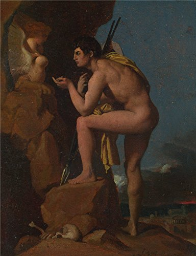 Oil Painting 'Jean Auguste Dominique Ingres Oedipus And The Sphinx' 12 x 16 inch / 30 x 40 cm , on High Definition HD canvas prints is for Gifts And Bed Room, Foyer And Kids Room Decoration