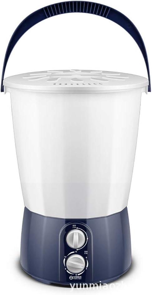 Potencia Nominal 3 Kg: Mini Lavadora Cubeta Dividida 150 Vatios Una Máquina Dos Cubetas Una Cubierta Adecuada para Lavar Calcetines Ropa Interior para Bebés Sanitarios Limpios