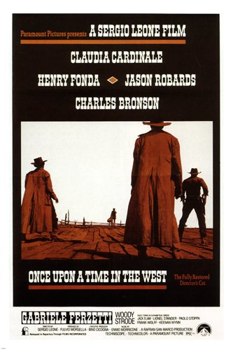 Once Upon A Time In The West by Sergio Leone Movie Poster 1968 Spaghetti