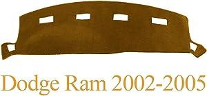 Yiz Dashboard Cover Dash Cover Mat Custom Fit for Dodge Ram 1500 2002-2005,2500/3500 2003-2005 (Ram 02-05, Brown)