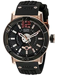 Elini Barokas Mens Spirit Swiss Quartz Stainless Steel Casual Watch (Model: ELINI-20002-RG-01-BB)
