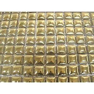 Cerámica esmaltada Mosaic azulejos. 10x 10mm de azulejos. 81azulejos hoja de cerámica esmaltado. Oro