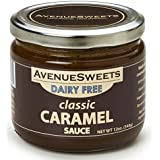 AvenueSweets Vegan Salted Caramel Sauce Coffee Flavoring Syrup Toppings 12oz - Espresso Latte Sauce and Dripping Dipping Caramel Sauce (Classic, 1 jar)