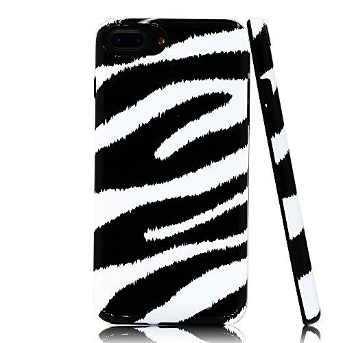 Lartin Chic Zebra Print Soft Flexible Jellybean Gel TPU Case for iPhone 8 Plus/iPhone 7 Plus/iPhone 6S Plus/iPhone 6 Plus - Chic Zebra