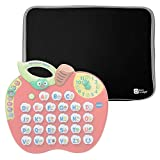 Black Lightweight Impact Resistant Neoprene Case With Steel Zip - Compatible with Vtech Alphabet Apple - by DURAGADGET