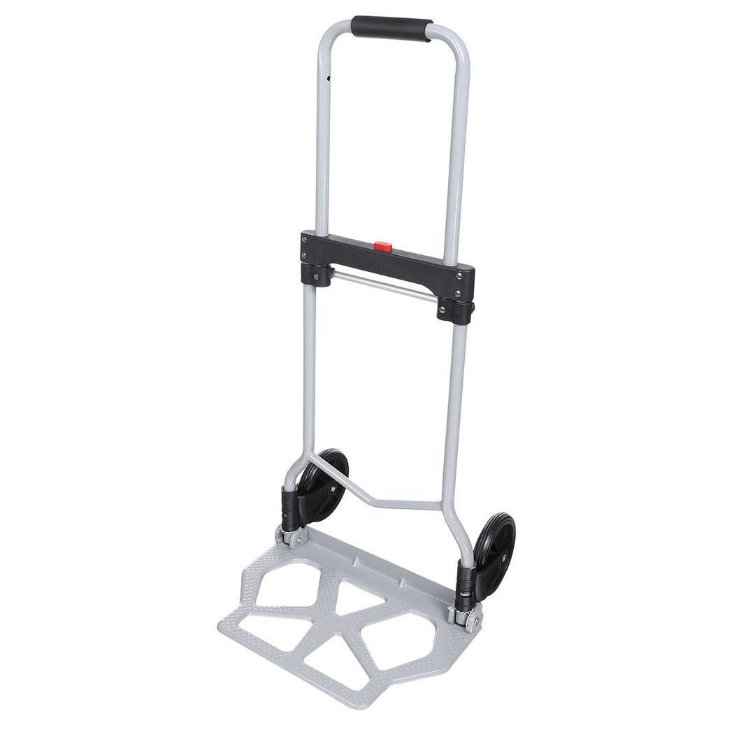 Folding Hand Truck/Assisted Hand Truck/Cart 220lbs Lightweight Portable Fold UpDolly Foldable Wheelsfor Luggage, Personal, Travel, Auto, Moving and Office Use by Elomes (Image #4)