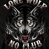 Hot Leathers Full Face Lone Wolf 100% Cotton Double