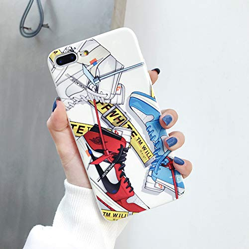1 piece Jordan AIR sports Basketball shoes case for iPhone 8 7 6 6S Plus X Xs Max Xr off fashion OW white Glossy Soft Silicon Cover Capa