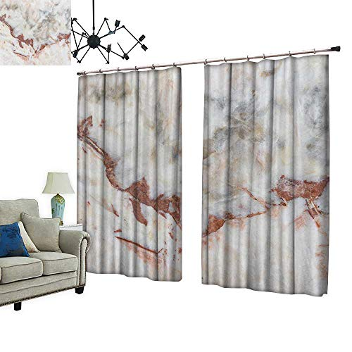 2 Panels Curtain with Hook Marble Texture detaile Structure Marble in naturalfor backgroun Design Can Block Sunlight,W96.5 xL84.3 from PRUNUS