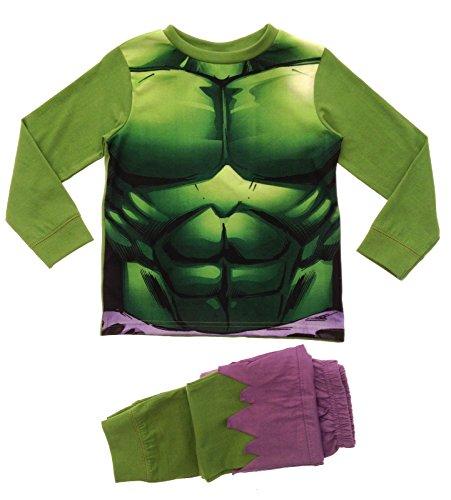 Lora Dora Big Boys' Marvel Avengers Inc Ible Hulk Pyjamas Pj Set 7-8 Years Incredible Hulk Novelty (Hulk Outfits)