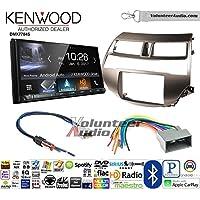 Volunteer Audio Kenwood DMX7704S Double Din Radio Install Kit with Apple CarPlay Android Auto Bluetooth Fits 2008-2012 Honda Accord (Gun Metallic Taupe)