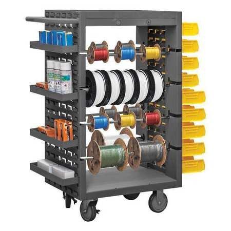Wire Spool Cart, 1200 Lbs, Gray ()