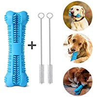 Leeko Dog Toothbrush, Dog Chew Toys Dog Teeth Cleaning Toys Natural Nontoxic Rubber Dental Care Brushing Stick for Small Dogs, Most Pets, Gift for Pets Lover (Blue)