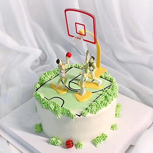 Bonytain 1set basketball Team Game scene sport cake party decorazione torta DIY Tools Kids Toy Doll Decor