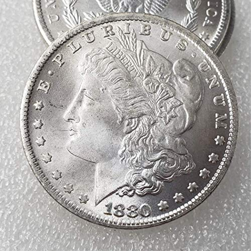 MarshLing Morgan Silver Dollars-US Old Coin Collecting - Great American Coin - USA Old Original Pre Morgan Dollar - Uncirculated Coins/Collectable Condition Perfect Quality 1880 1 Pcs Coin