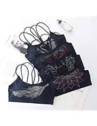 2 Pieces Summer Cross Straps Sling Tube Tops Women Wire Free Seamless Underwear Bra Top (Color : Random 2 Pieces, Size : Free Size)