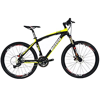 BEIOU® Toray T700 Carbon Fiber Mountain Bike Complete Bicycle MTB 27 Speed 26-Inch Wheel SHIMANO 370 CB004