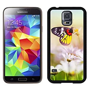 Aesthetic Butterfly On Flower Hard Plastic Samsung Galaxy S5 I9600 Protective Phone Case