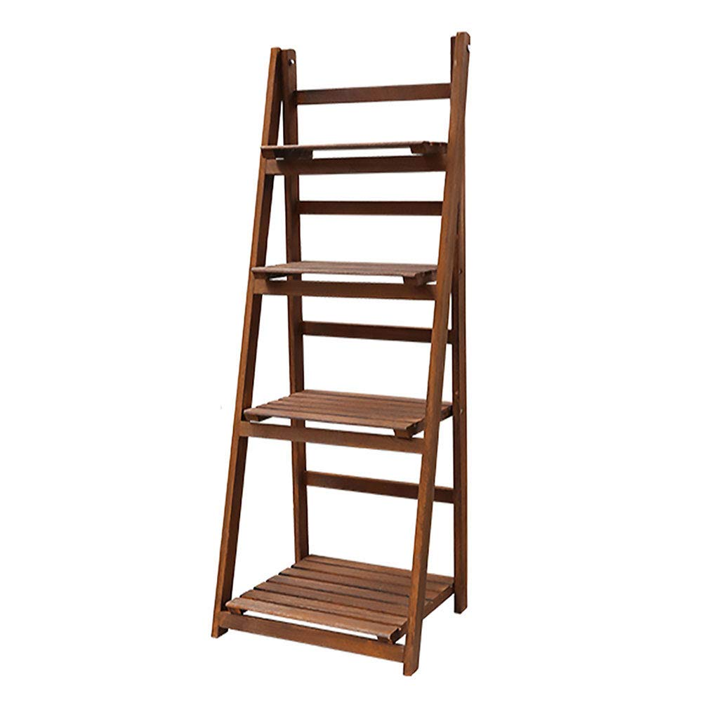 112x33.5x41.5 Wooden Display Bookshelf,2-4 Tier Plant Flower Shelf Toys Stairs Foldable for Garden Indoor Home Household Products (Size   107x40x41.5)