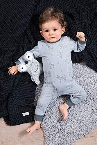 Lang/ärmliger Strampler in Orange mit Tiger Print f/ür M/ädchen und Jungen Jollein Baby Overall Unisex Jumpsuit ohne F/ü/ße aus Bio-Baumwolle f/ür Neugeborene