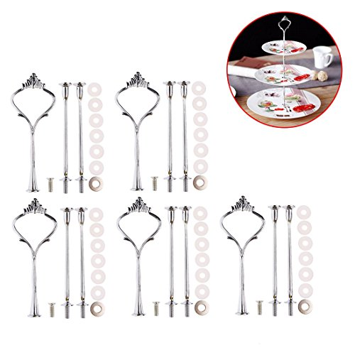 Make Cake Stand - Cake Stands, FenglinTech 5 Sets Crown 3-Tier Vintage Plates Stand Holder