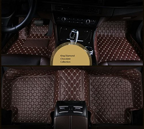 Spartan Autotec Ford F-150 4 Doors SuperCrew Truck All weather Custom Made FloorLiners/Floor Mats Front & Back Seats 3pcs (Chocolate)