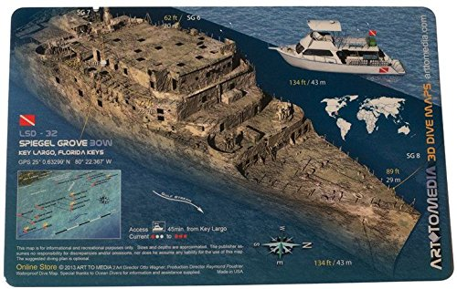 Trident Spiegel Grove (Bow) 3D Scuba Diving Laminated Ship Wreck ()