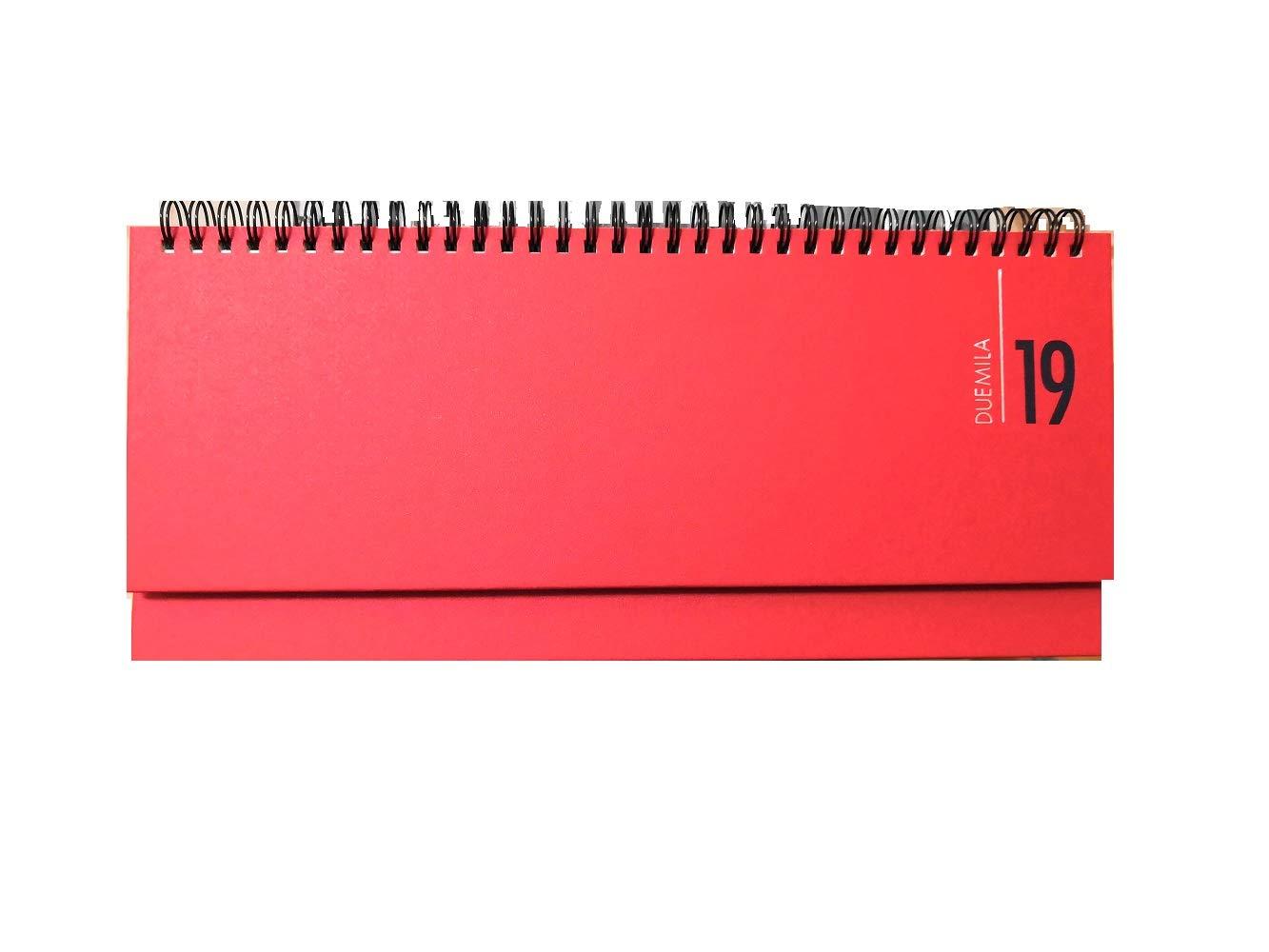 DESK PLANNER PLANNING SETTIMANALE SPIRALATO BUFFETTI ROSSO 30x13 cm BUFFETTI Novidea
