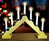 Christmas Concepts Christmas Wooden Candle Bridge With Warm White LED Lights - Battery Operated