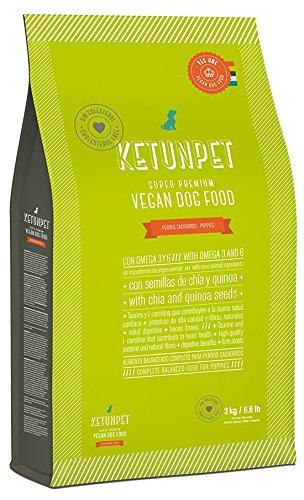 KetunPet Vegan Dog Food - PUPPIES - 6.6 and 22 lbs (Small 6.6 Lbs)
