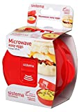 Sistema 1117 Easy Eggs Microwave Cookware, Red